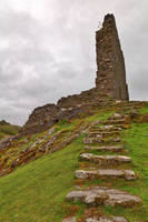 Dolwyddelan Step Castle Ruins by boldfrontiers