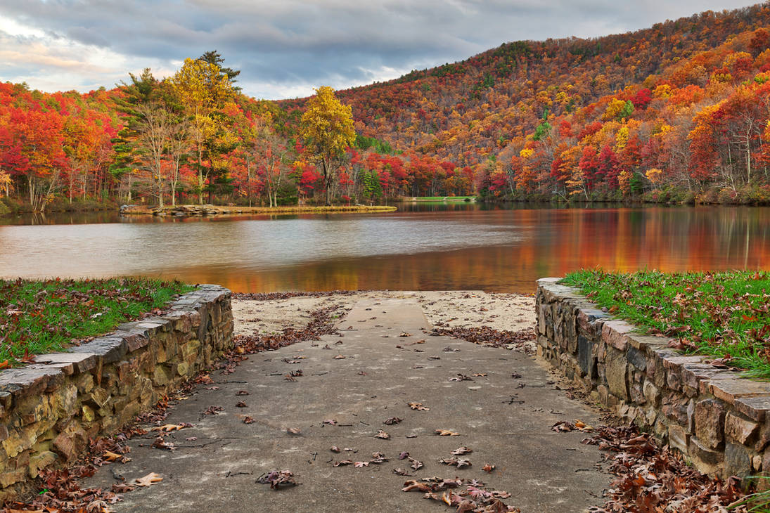 Autumn Welcome To Sherando Lake By Boldfrontiers On Deviantart