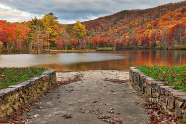 Autumn Welcome to Sherando Lake by boldfrontiers