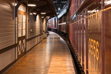 Retro Railroad Platform by boldfrontiers