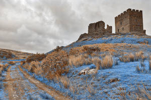 Nuclear Winter Castle - Dolwyddelan by boldfrontiers