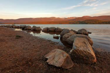 Golden Hour of Loch Morlich by boldfrontiers