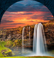 Seljalandsfoss Sunset Fantasy by boldfrontiers