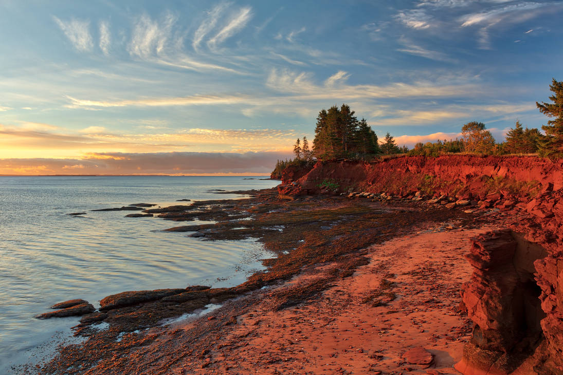 Red Sandstone Hour of Prince Edward Island by boldfrontiers