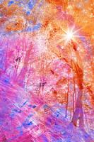 Acrylic Sunburst Forest - Dunkeld by boldfrontiers