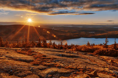 Cadillac Mountain Sunset (freebie) by boldfrontiers