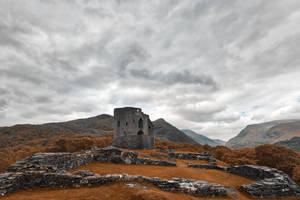 Ancient Dolbadarn Castle by boldfrontiers