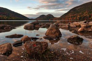 Jordan Autumn Twilight Pond by boldfrontiers