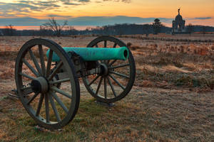 Gettysburg Cannon Dawn by boldfrontiers