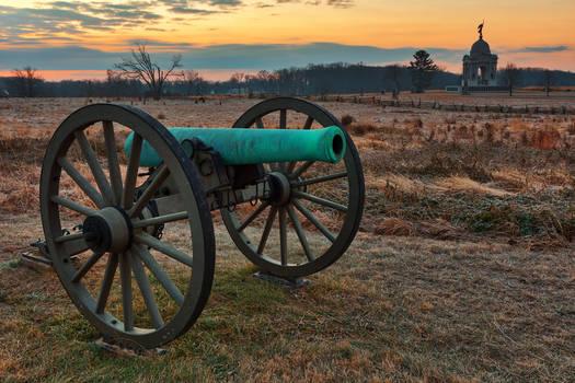 Gettysburg Cannon Dawn