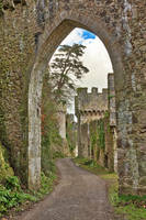Gwrych Castle Arch Road by boldfrontiers