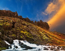 Rugged Iceland Moss Sunset by boldfrontiers