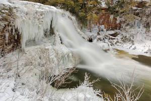 Winter Wonderland Waterfall by boldfrontiers