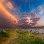 Poulnabrone Sunset by boldfrontiers