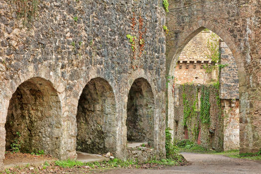 Gwrych Castle Arches by boldfrontiers