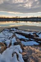 Winter Potomac Reflections - Goose Creek by boldfrontiers