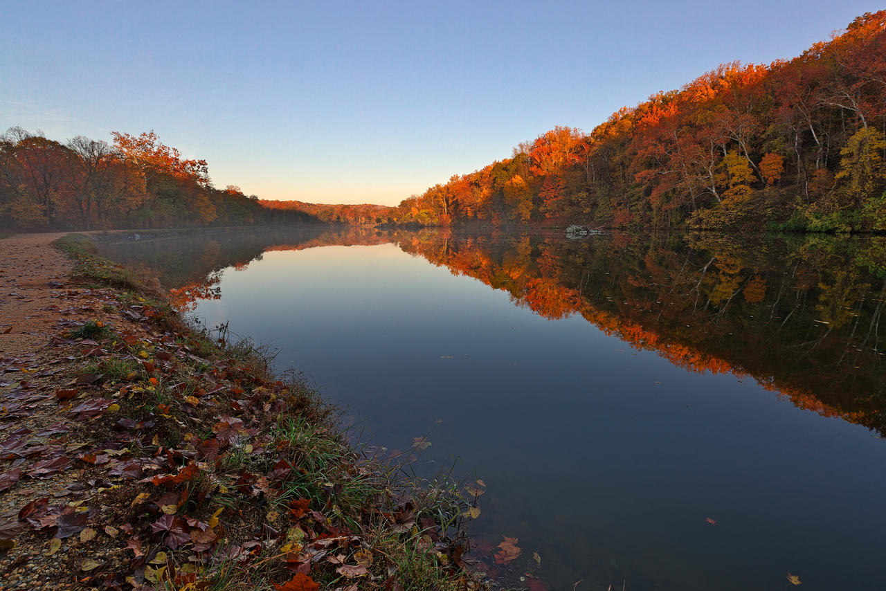 Autumn Morning Canal (freebie)