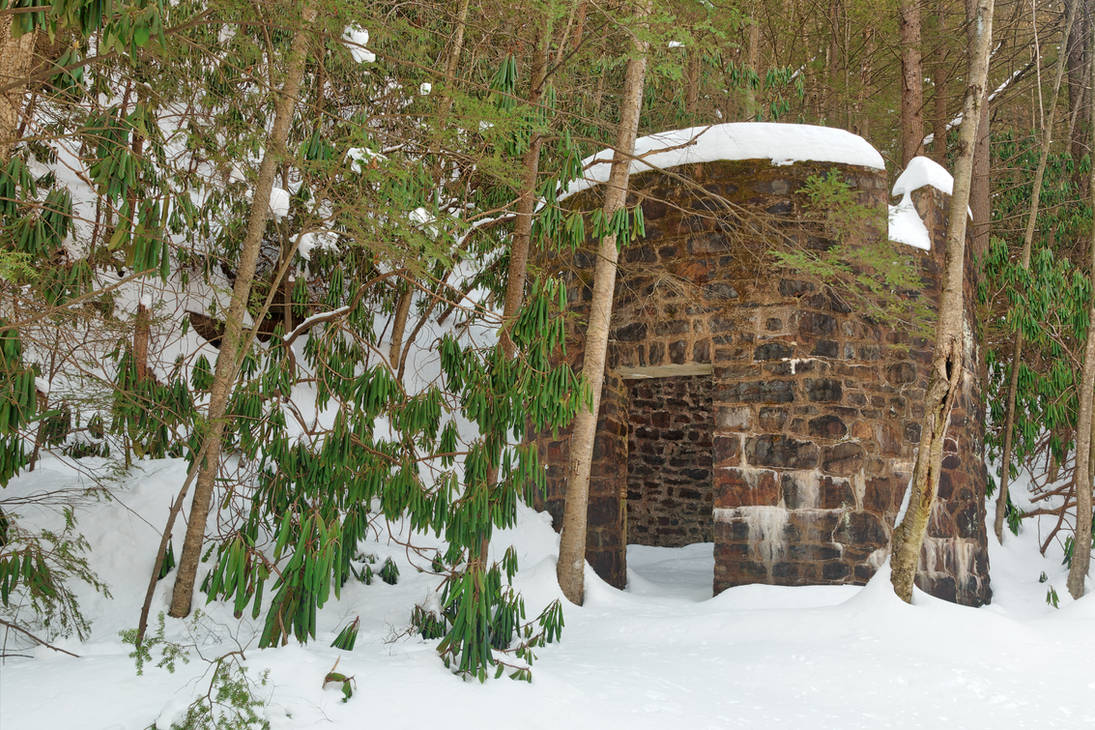Winter Lehigh Ruins by boldfrontiers