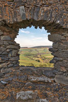 Auchindoun Castle Frame by boldfrontiers