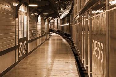 Sepia Railroad Platform by boldfrontiers