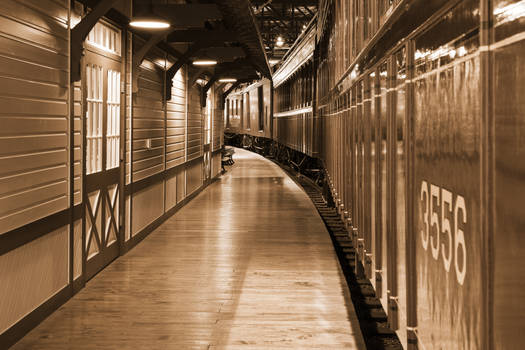 Sepia Railroad Platform by boldfrontiers