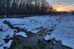 Edwards Ferry Winter Sunset