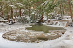 Winter Circle Stream - Tolliver Falls by boldfrontiers