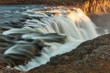 Golden Hour Waterfall - Kolufoss by boldfrontiers