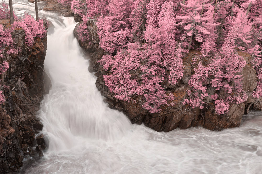 Dorwin Falls - Pink Fantasy by boldfrontiers