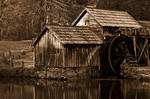 Mabry Sepia Mill by boldfrontiers