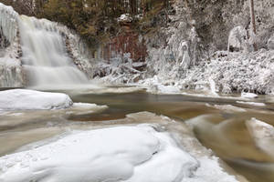 Winter Muddy Creek Falls