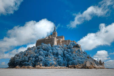 Mont Saint-Michel - Blue Fantasy by boldfrontiers
