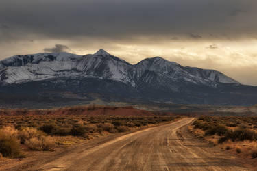 Hanksville Country Road by boldfrontiers