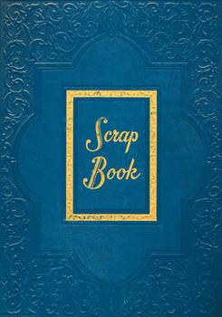 Blue Vintage Scrapbook Cover