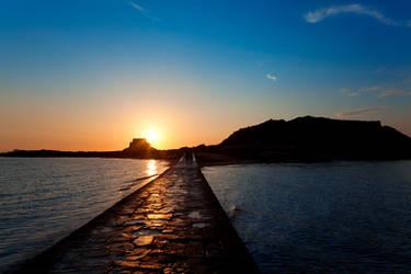 Saint-Malo Sunset Path