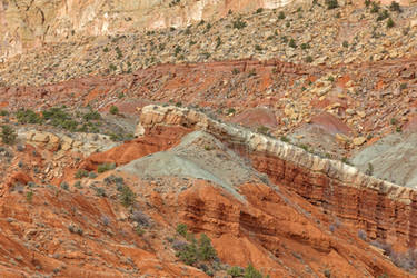 Tilted Capitol Reef Strata