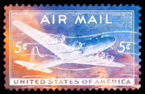 Air Mail Sunset Stamp - USA