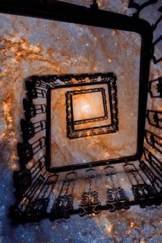 Spiral Galaxy Staircase (freebie)