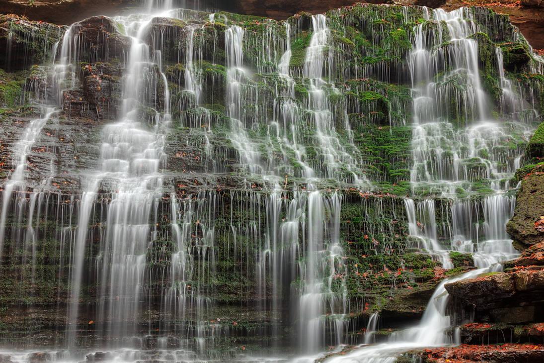 Moss Machine Falls by boldfrontiers