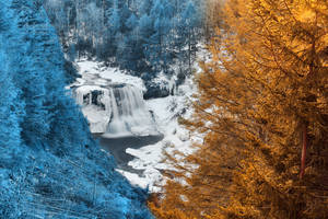 Warming Winter Waterfall