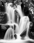 Ogwen Cottage Falls - Black and White
