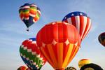 Vibrant Hot Air Balloons VII