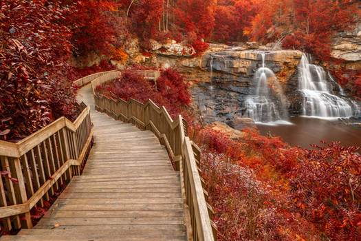 Winding Blackwater Falls - Autumn Fantasy