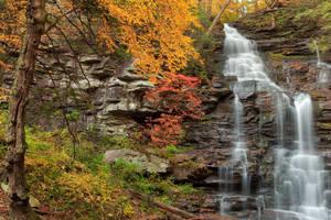 Autumn Splendor of Ganoga Falls