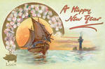 Vintage Happy New Year Card by boldfrontiers