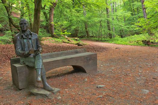 Forest Bench Statue - Robert Burns