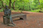 Forest Bench Statue - Robert Burns by boldfrontiers