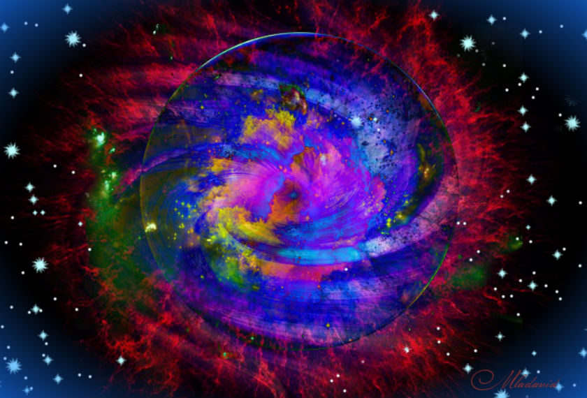 Cosmic processes of creation by Mladavid