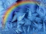 Frosty rainbow.