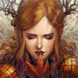 Leaf Girl by IndianRose